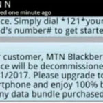 BREAKING NEWS: MTN To End Support For Blackberry Internet Services