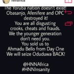 The Yoruba Nation Doesn't Exist! Obasanjo, Afenifere and OPC Destroyed It – Kemi Olunloyo