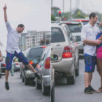 See Photos: Nigerian Lady & Her Spanish Fiance Take Pre-Wedding Photos In Traffic