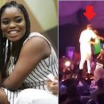 Bisola Forgives Thintalltony, hugs him on stage (video)