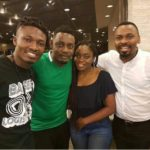 E! NEWS: Ace comedian A.Y spotted with Efe & Bisola