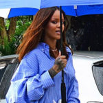 E! NEWS: Rihanna dresses different to grandfather's funeral