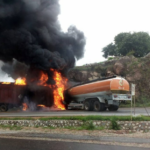 Suleja-Minna Road: Another fuel tanker bursts into flames after crashing into trailer