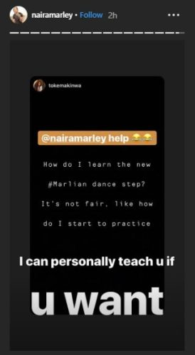 "Naira Marley Offers To Give Toke Makinwa Special ""Private"" Tesumole Dancing Lessons"