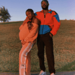 Simi shows off her growing baby bump in new loved-up photo with husband